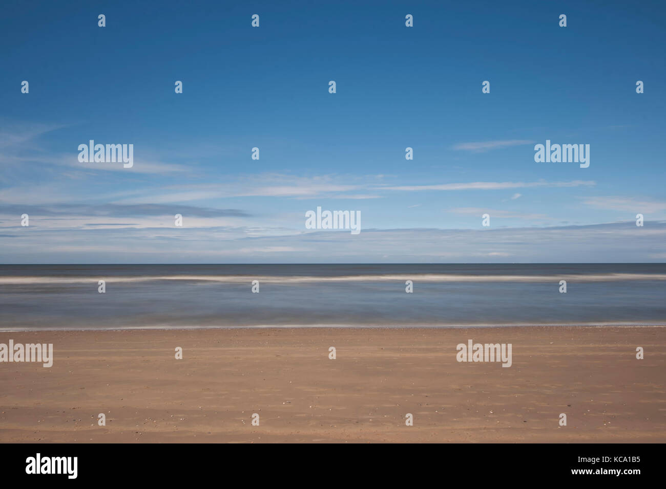 Beach with ND Filter - Stock Image