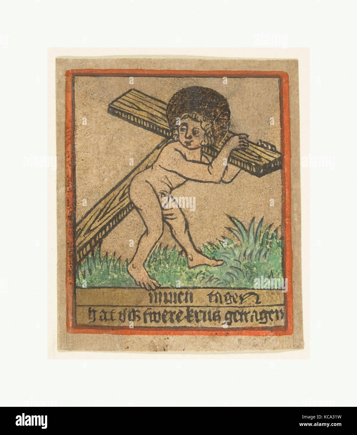 new years card christ child with the cross south anonymous german south germany 15th century ca 1490