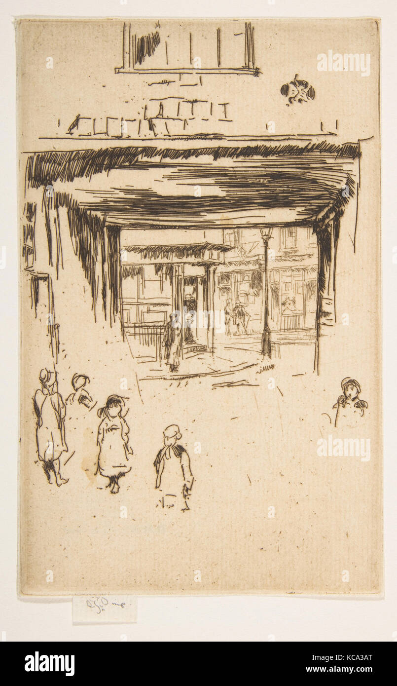 Drury Lane, 1880–81, Etching; only state (Glasgow); printed in brownish-black ink on cream laid paper, Plate: 6 - Stock Image