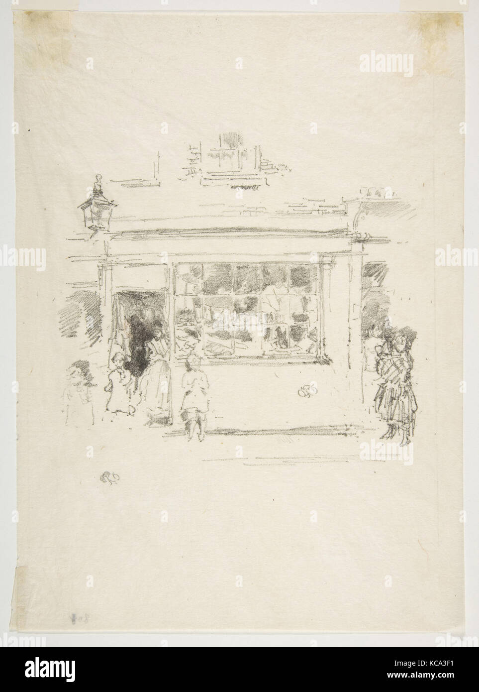 Drury Lane Rags, 1888, Transfer lithograph, drawn on medium-grain transfer paper; only state (Chicago), Image: 5 - Stock Image