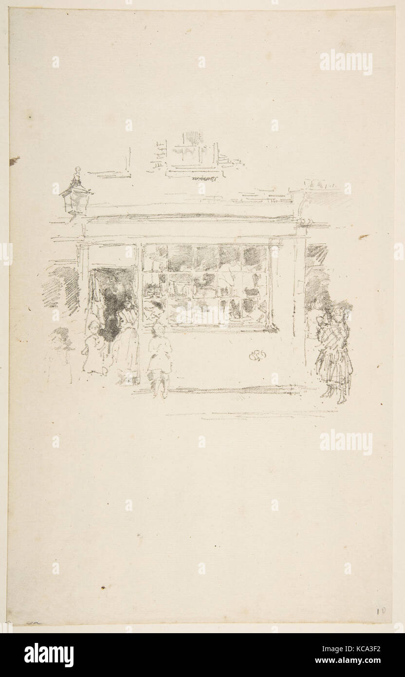 Drury Lane Rags, 1888, Transfer lithograph, drawn on medium-grain transfer paper; only state (Chicago); printed - Stock Image