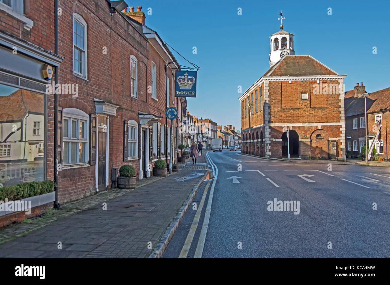 Amersham, Chilterns, Buckinghamshire, Market Hall, High Street, - Stock Image