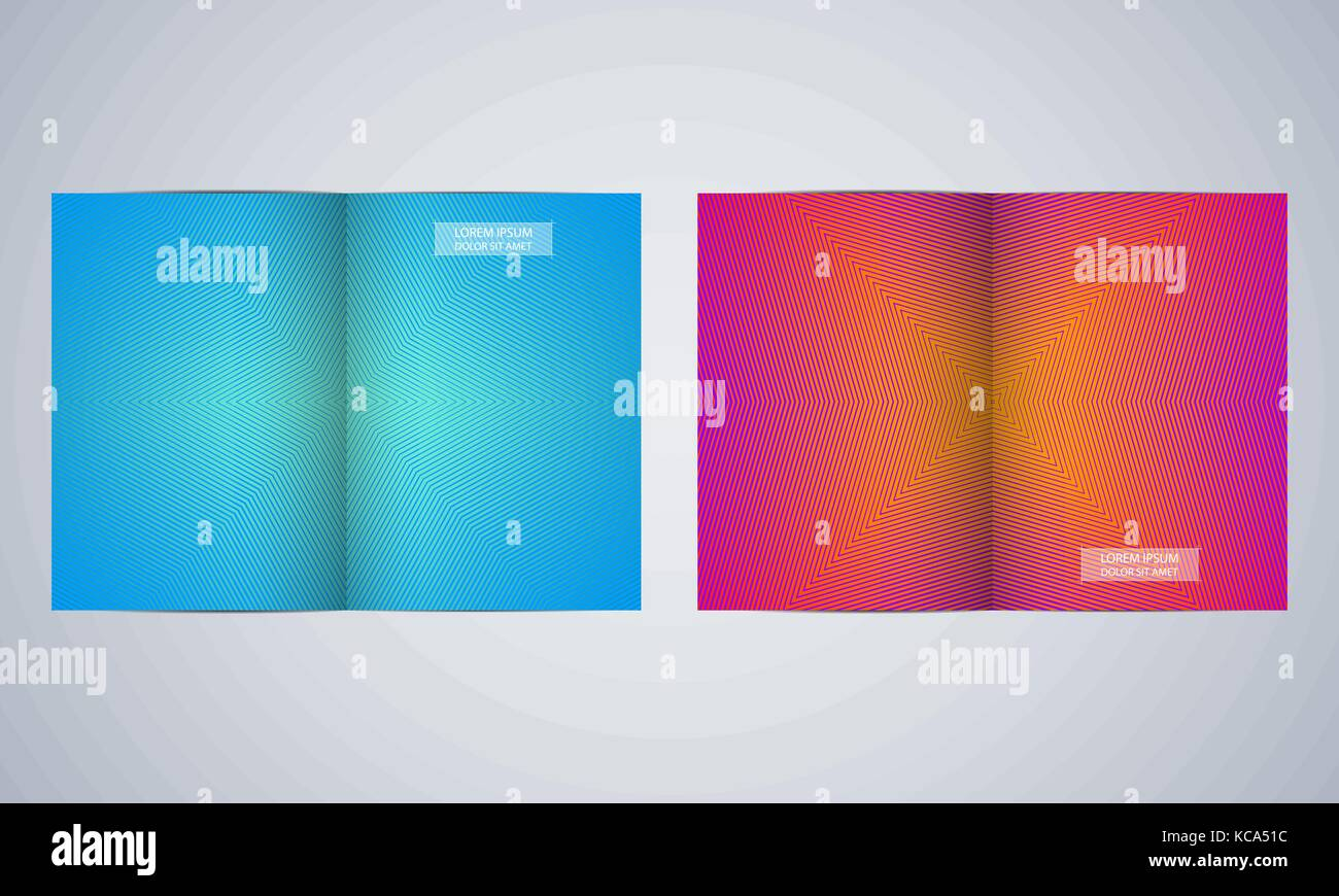 bi fold brochure template layout flyer cover annual report stock