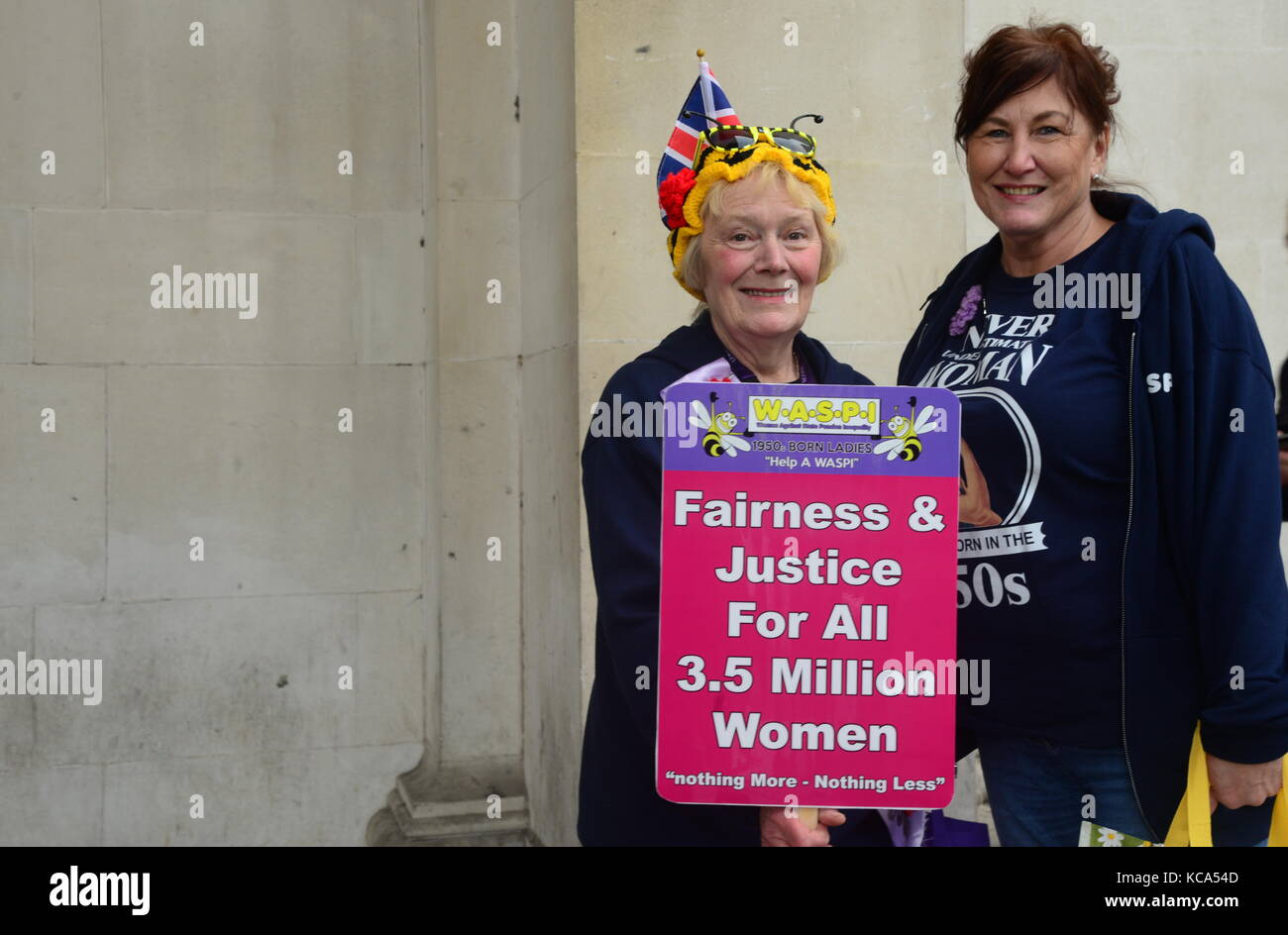 Women Against State Pension Inequality Demonstration - Stock Image