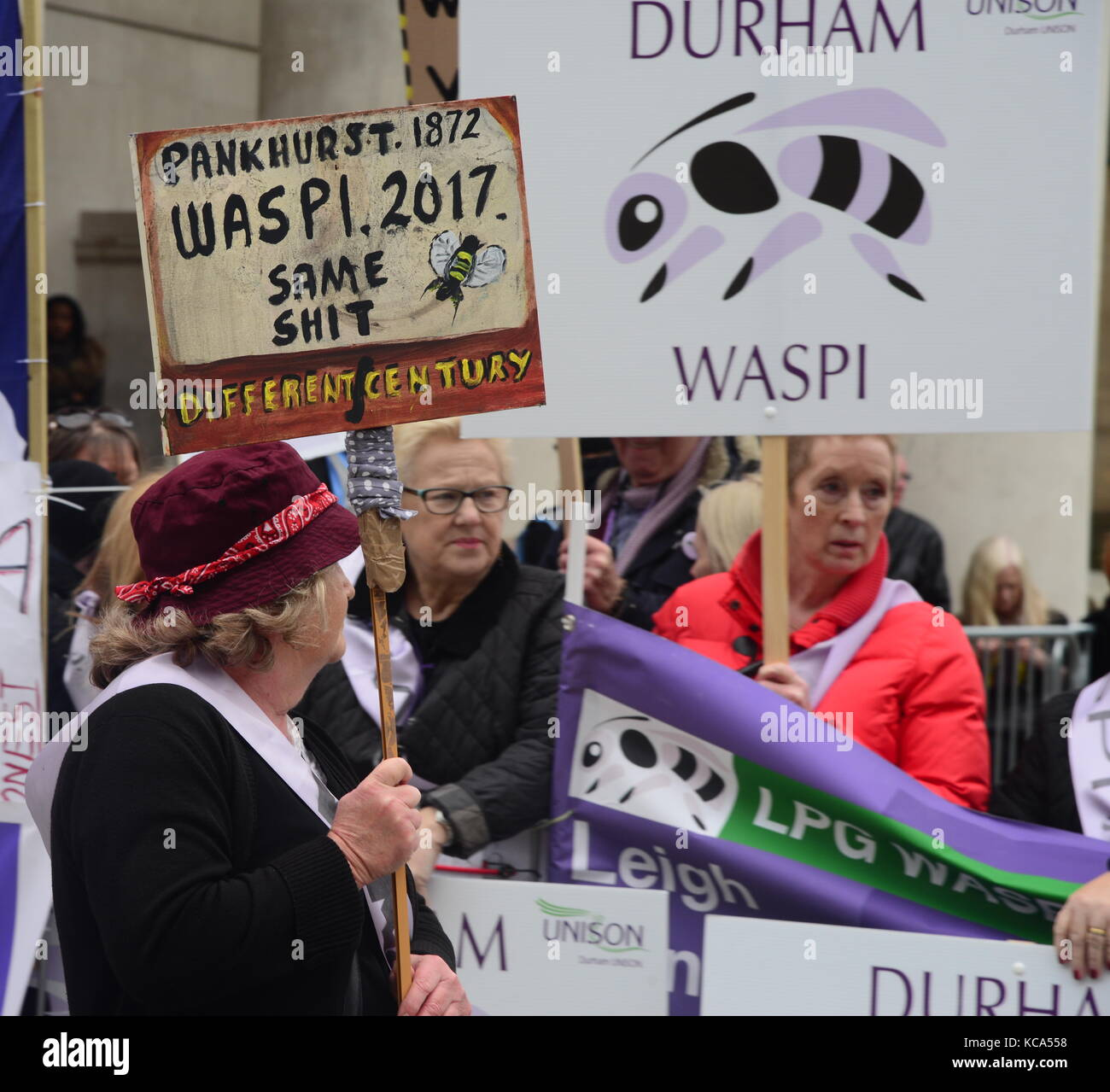 Women Against State Pension Inequality Demonstration Stock Photo