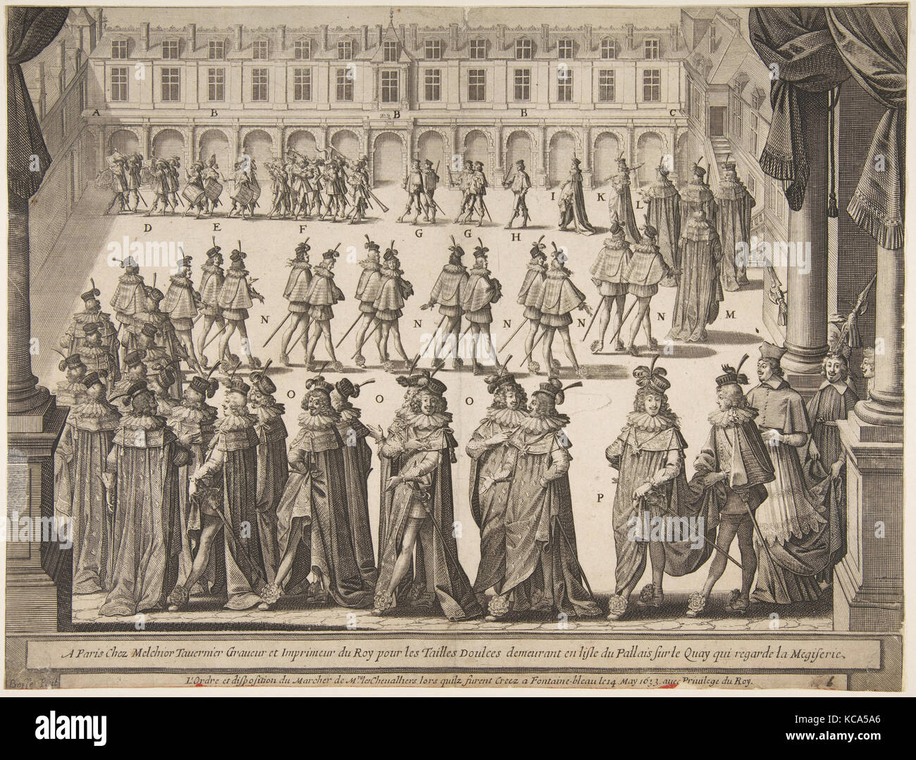 Order of the Chevaliers Marching at Fontainebleau in May 1633, Abraham  Bosse, 1634 -