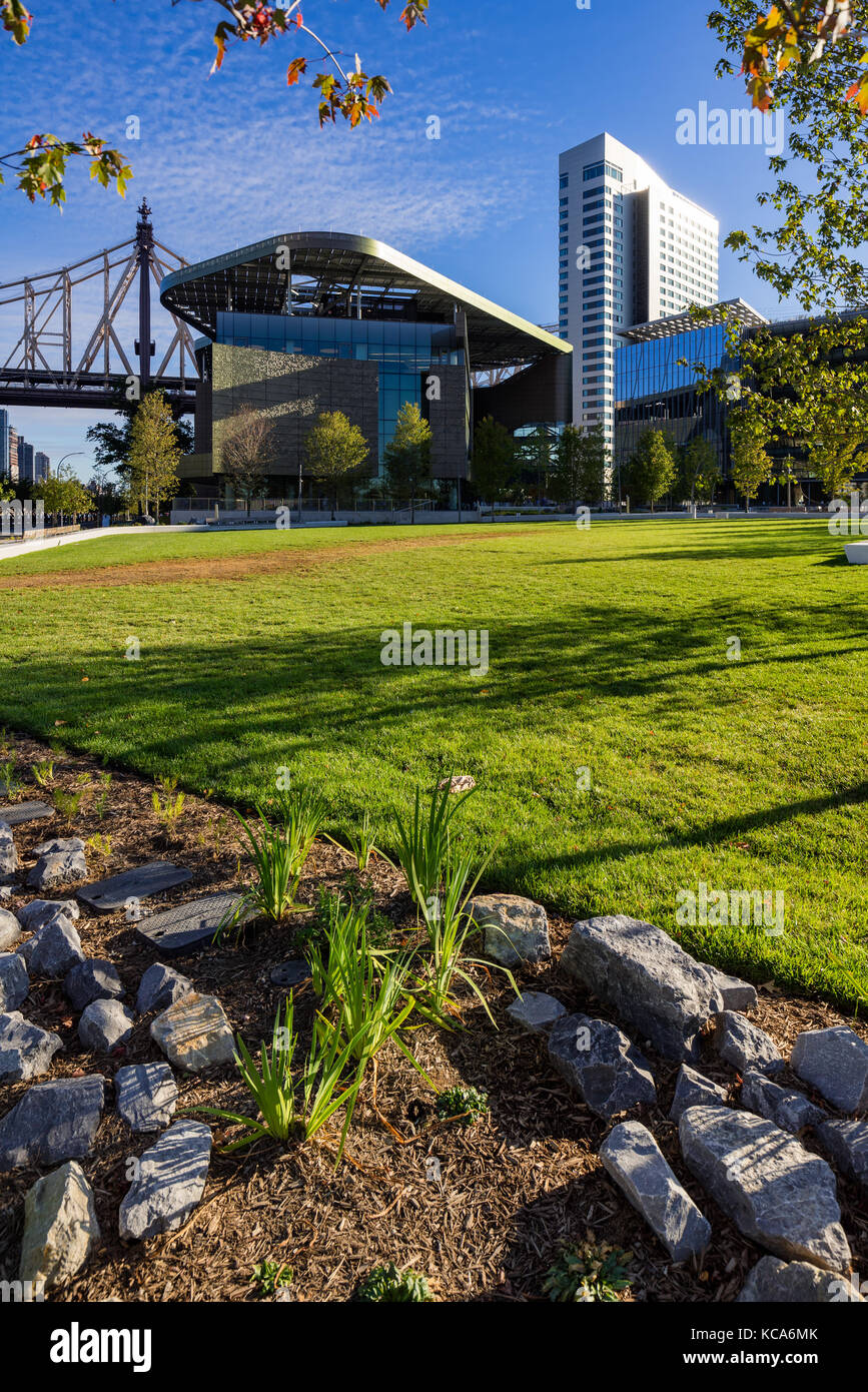 Summer view of the Cornell Tech campus on Roosevelt Island. New York City - Stock Image