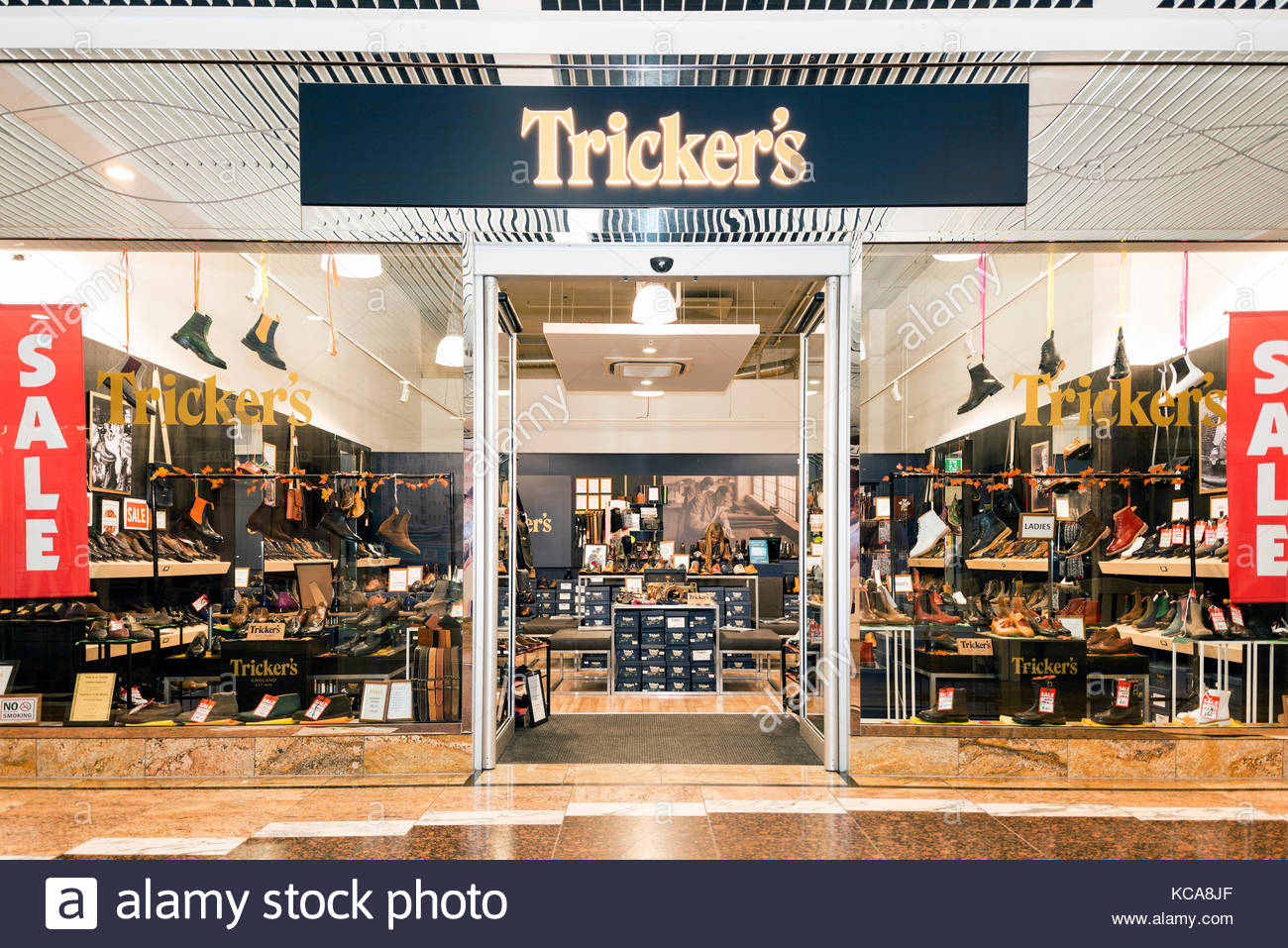 tricker 39 s shoes store uk stock photo 162495495 alamy. Black Bedroom Furniture Sets. Home Design Ideas