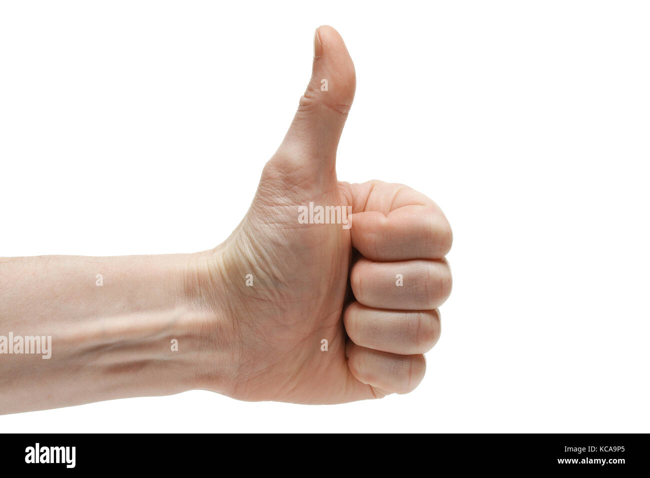 Human hand with finger up. Thumb up. - Stock Image