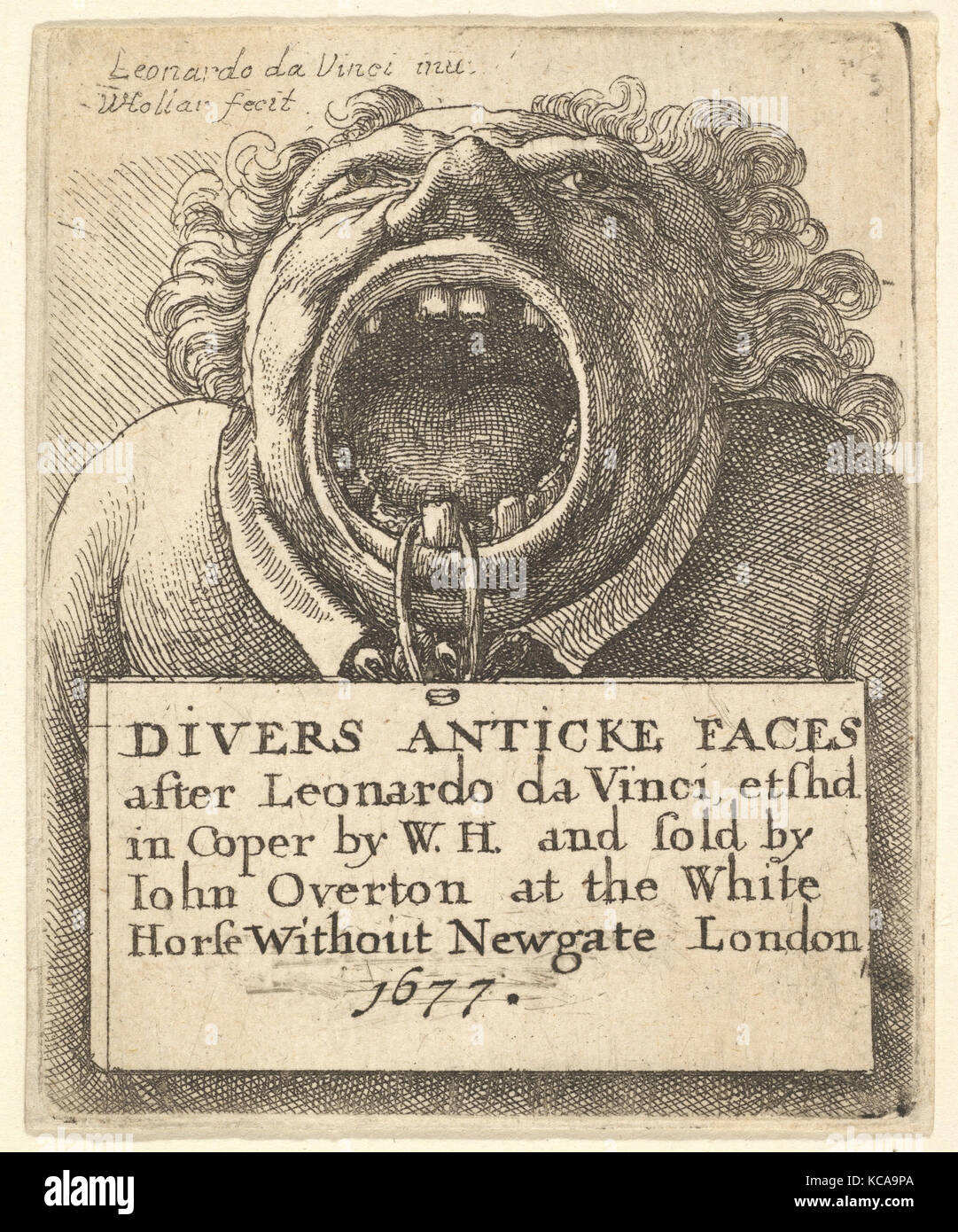 Title Page, Divers Anticke Faces, After Leonardo da Vinci, 1677