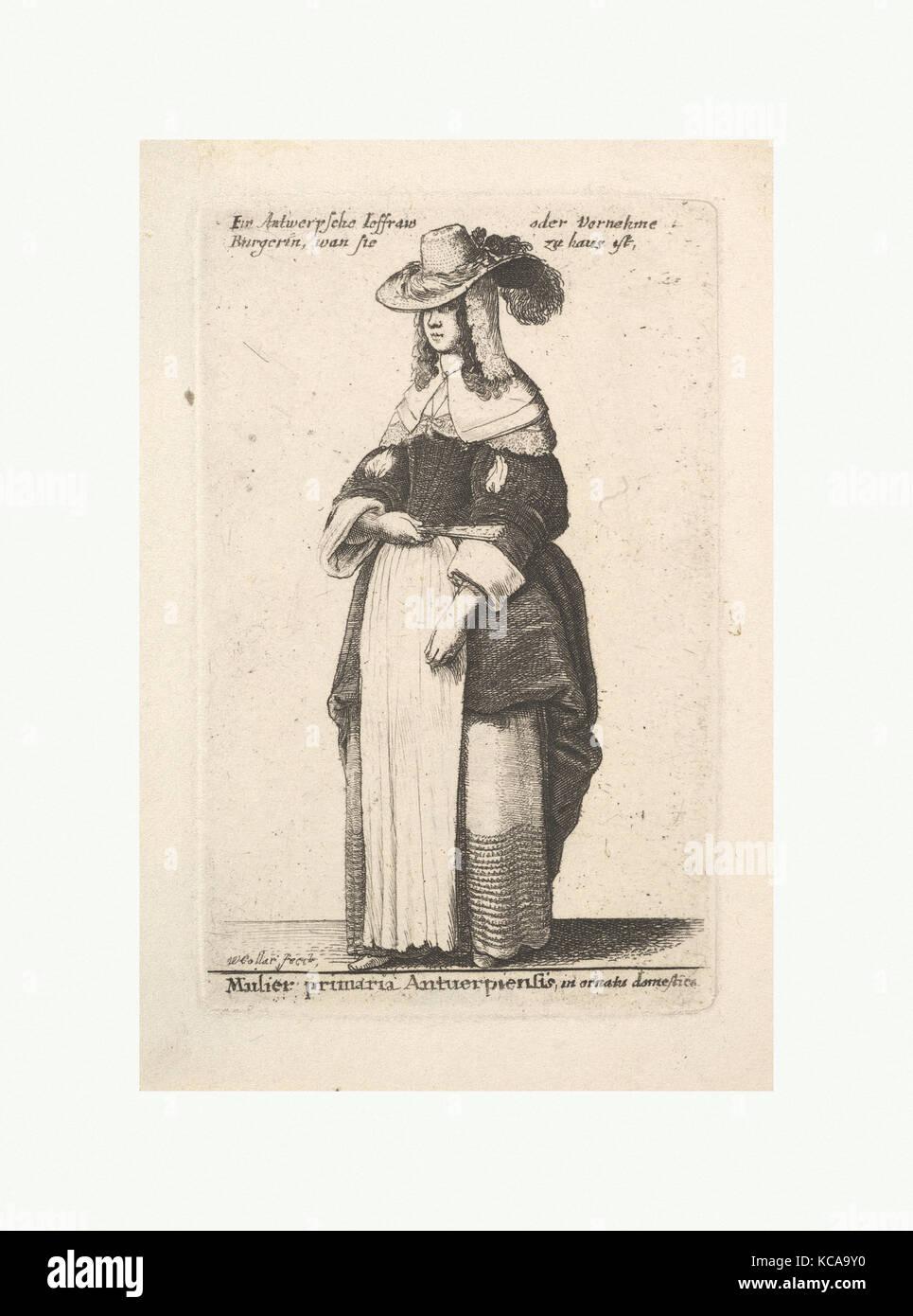 Mulier primaria Antuerpiensis, in ornatus domestica (Gentlewoman of Antwerp  in domestic adornment),