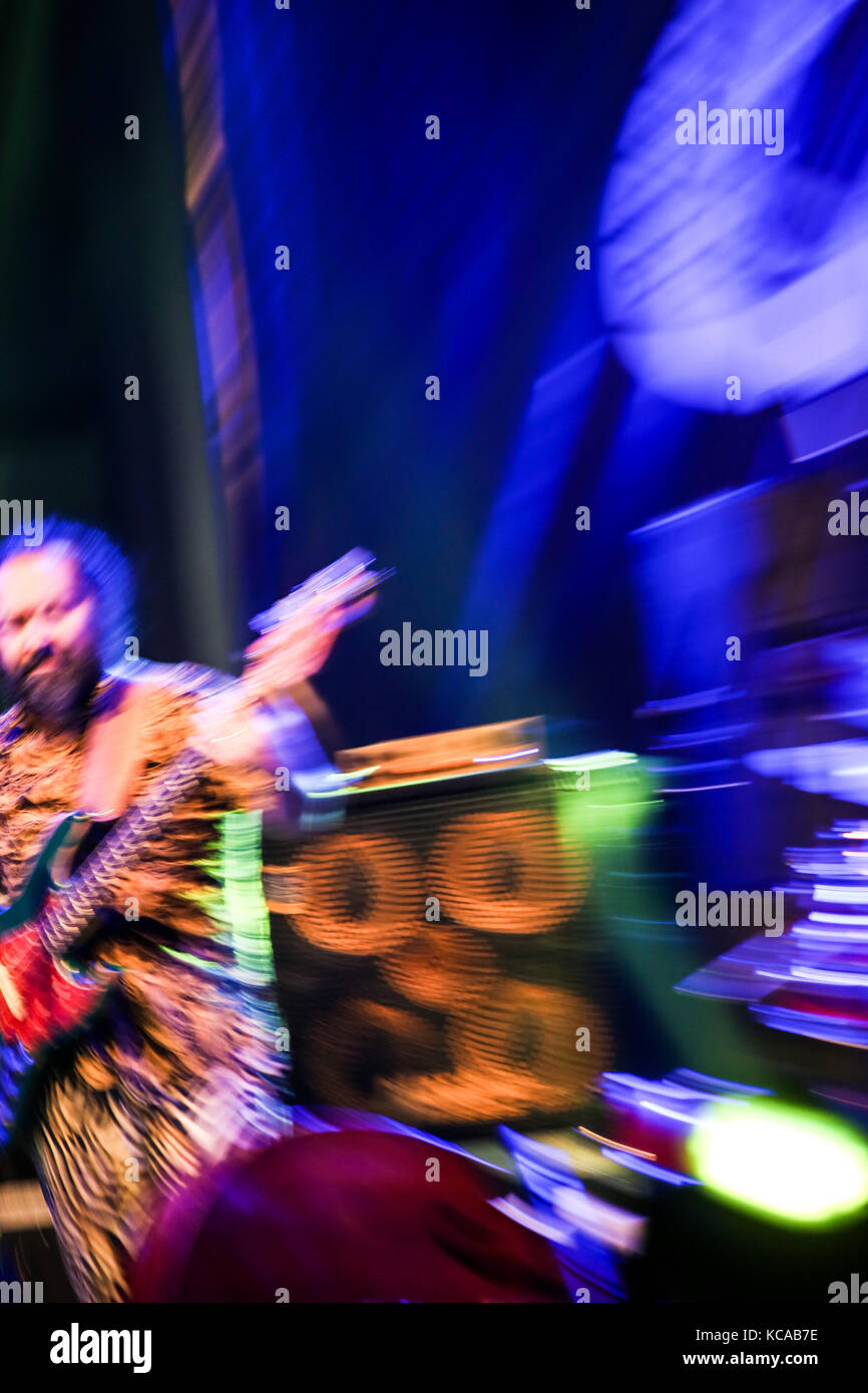 A Jazz Musician Plays bass in Cairo jazz festival, Egypt - Stock Image