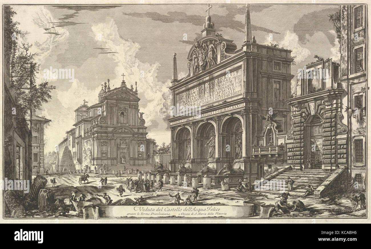 View of the Fountainhead of the Acqua Felice...., from Vedute di Roma (Roman Views), Giovanni Battista Piranesi, - Stock Image