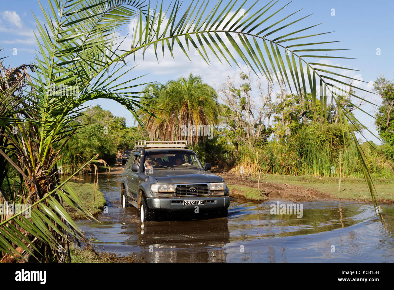 BELO-SUR-MER, MADAGASCAR, November 25, 2015 : A journey on the track joining Belo-sur-mer from the nearest town - Stock Image