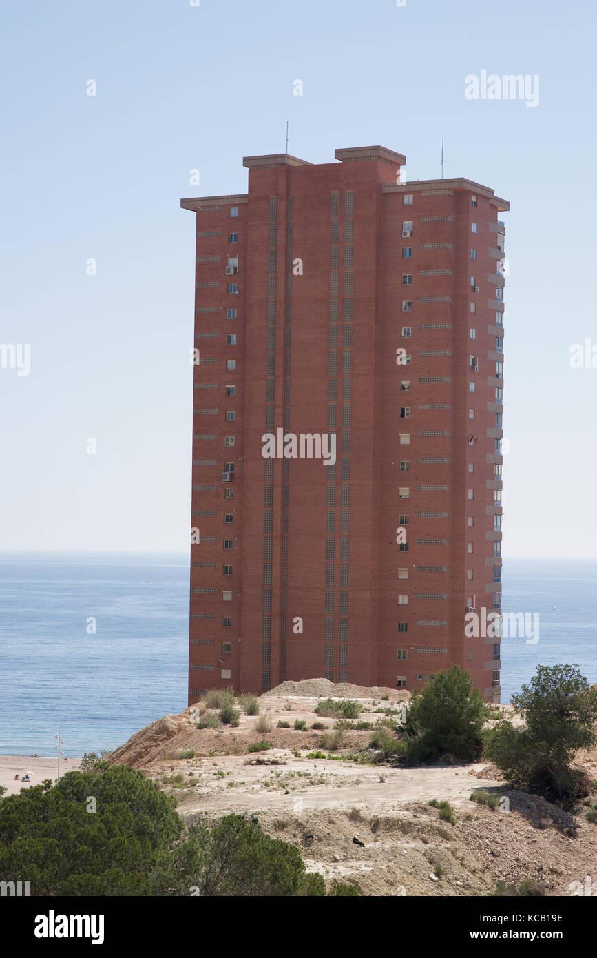 Hi-rise skyscraper in Benidorm, Alicante, Spain - Stock Image