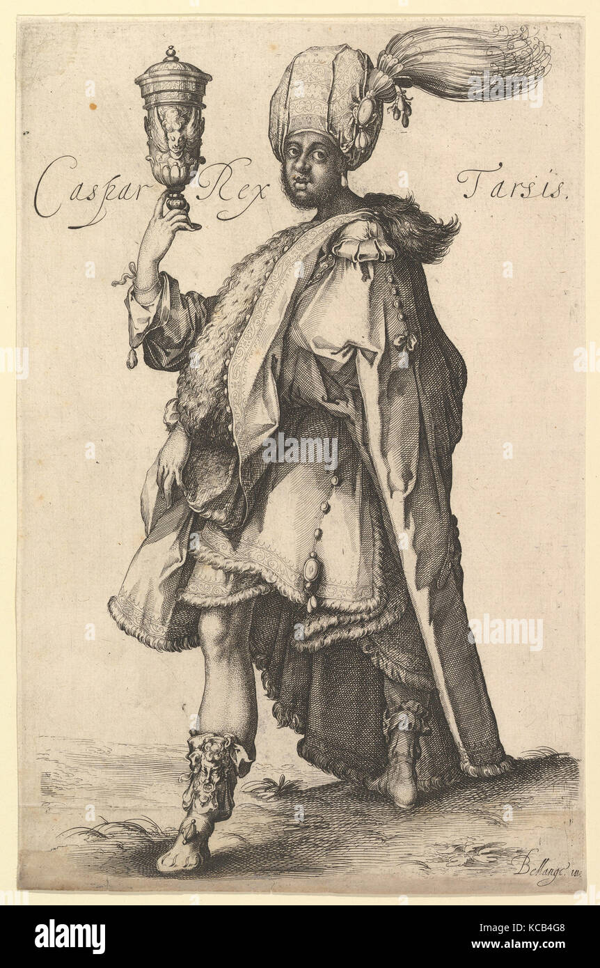 Caspar, after Three Magi series by Jacques Bellange, Probably Matthäus Merian the Elder, ca. 1615 Stock Photo