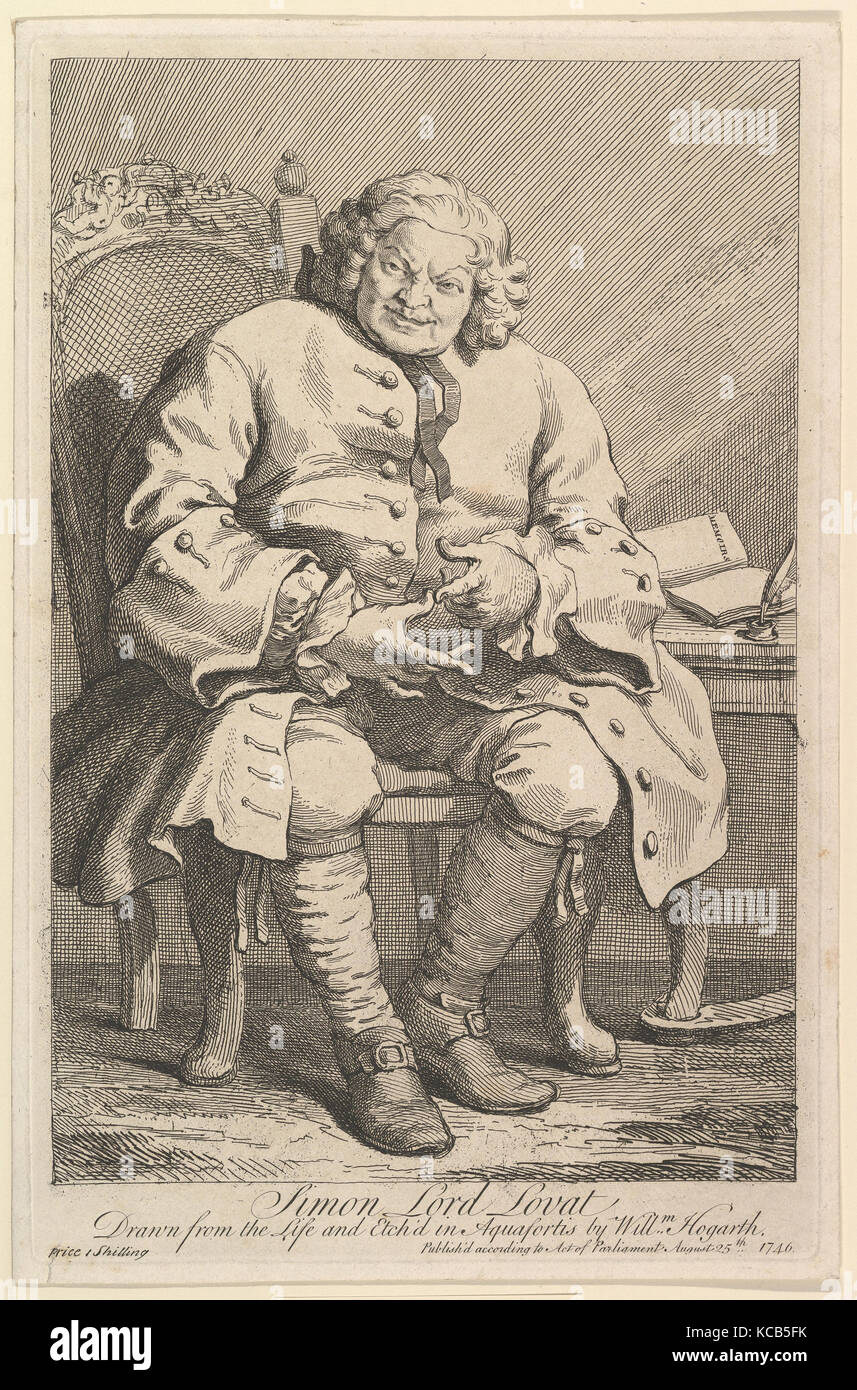 Simon Lord Lovat 1746 Etching And Engraving Second State Of Three Plate 14 1 4 X 9 3 16 In 362 233 Cm Prints