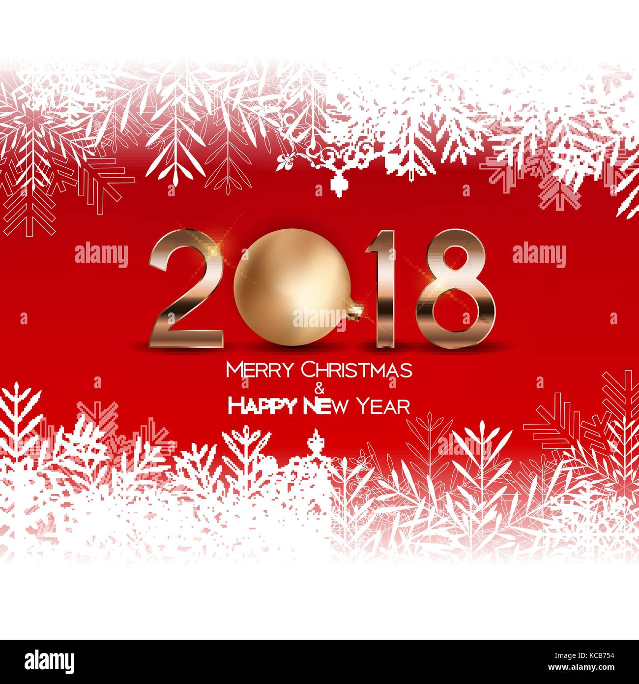 abstract beauty christmas and 2018 new year background vector illustration