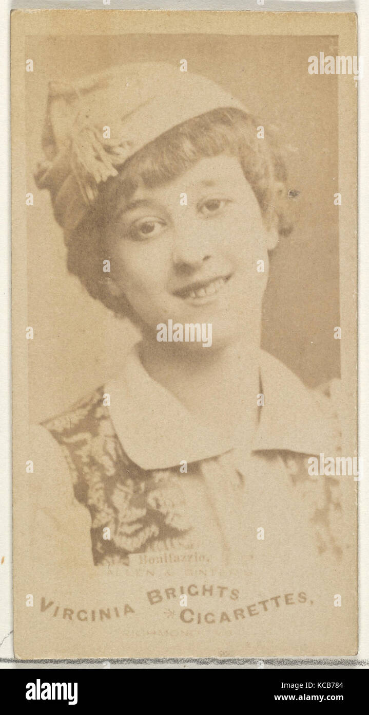 Bonifazzio, from the Actors and Actresses series (N45, Type 1) for Virginia Brights Cigarettes, ca. 1888 - Stock Image