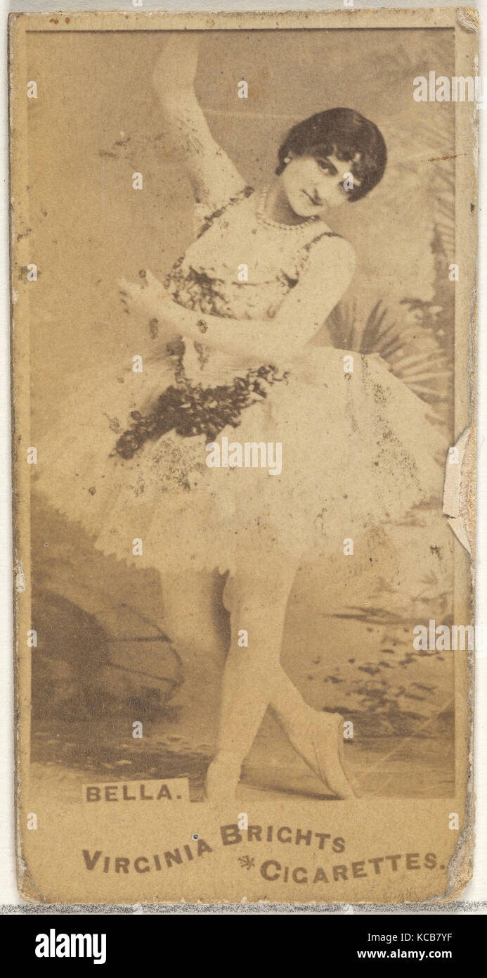 Bella, from the Actors and Actresses series (N45, Type 1) for Virginia Brights Cigarettes, ca. 1888 - Stock Image