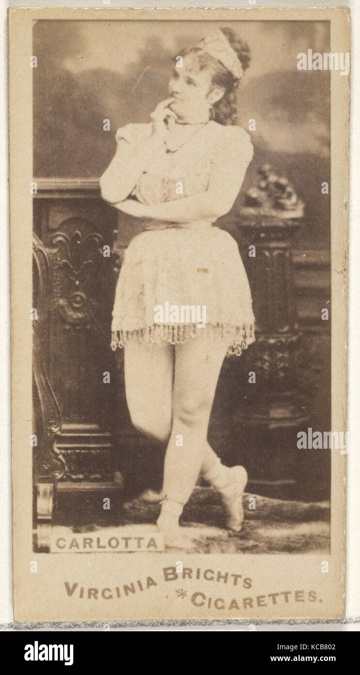 Carlotta, from the Actors and Actresses series (N45, Type 1) for Virginia Brights Cigarettes, ca. 1888 - Stock Image