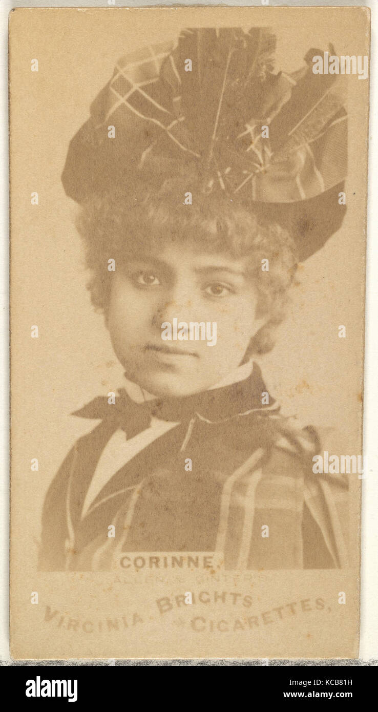 Corinne, from the Actors and Actresses series (N45, Type 1) for Virginia Brights Cigarettes, ca. 1888 - Stock Image