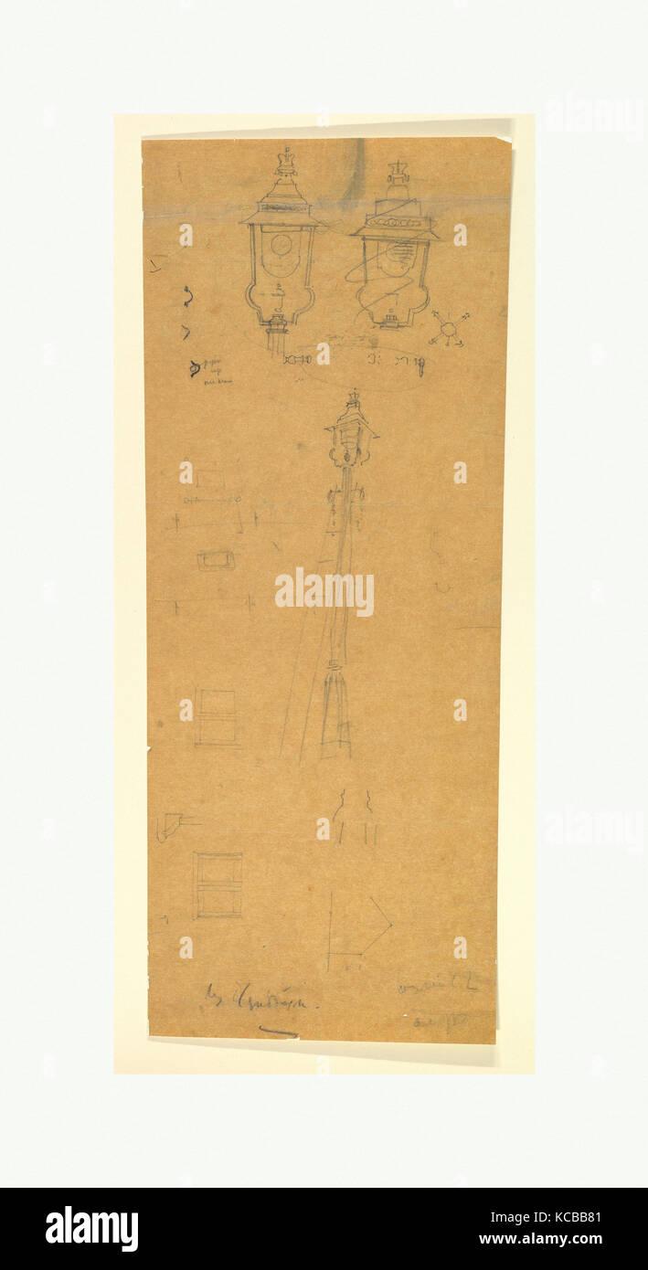 Studies of a Lamp Standard, Sir Edwin Landseer Lutyens, late 19th–mid-20th century - Stock Image