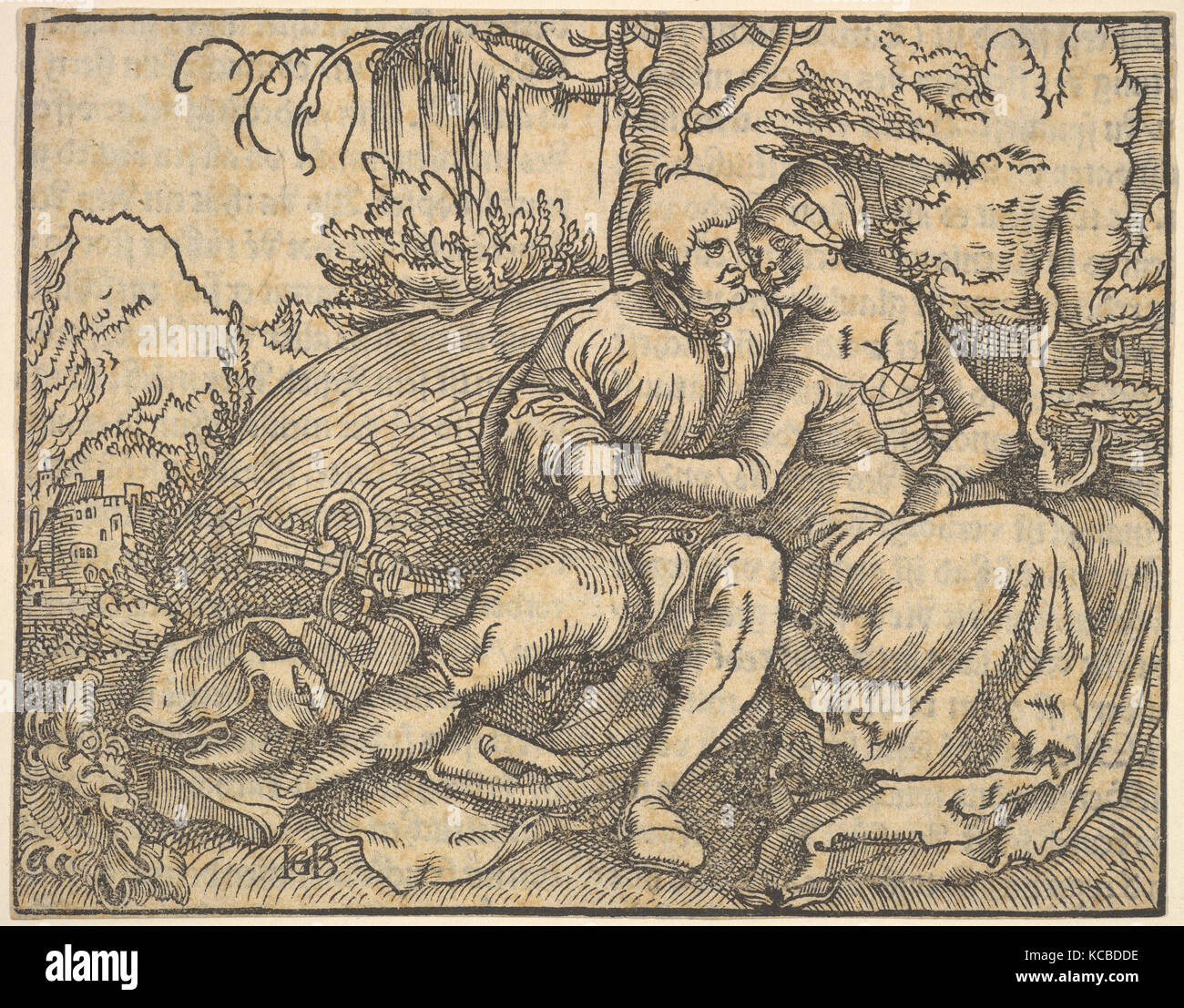 The Sixth Commandment from The Ten Commandments, Hans Baldung - Stock Image