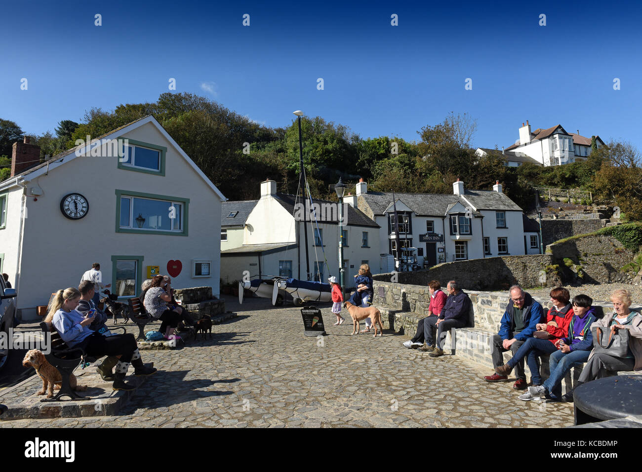 Little Haven in Pembrokeshire, West Wales, Uk - Stock Image