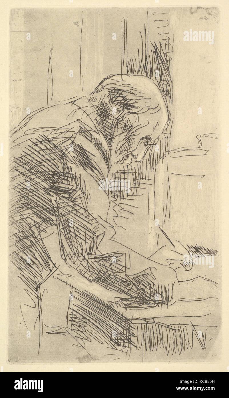 The Printmaker, Édouard Vuillard, late 19th–mid-20th century Stock Photo