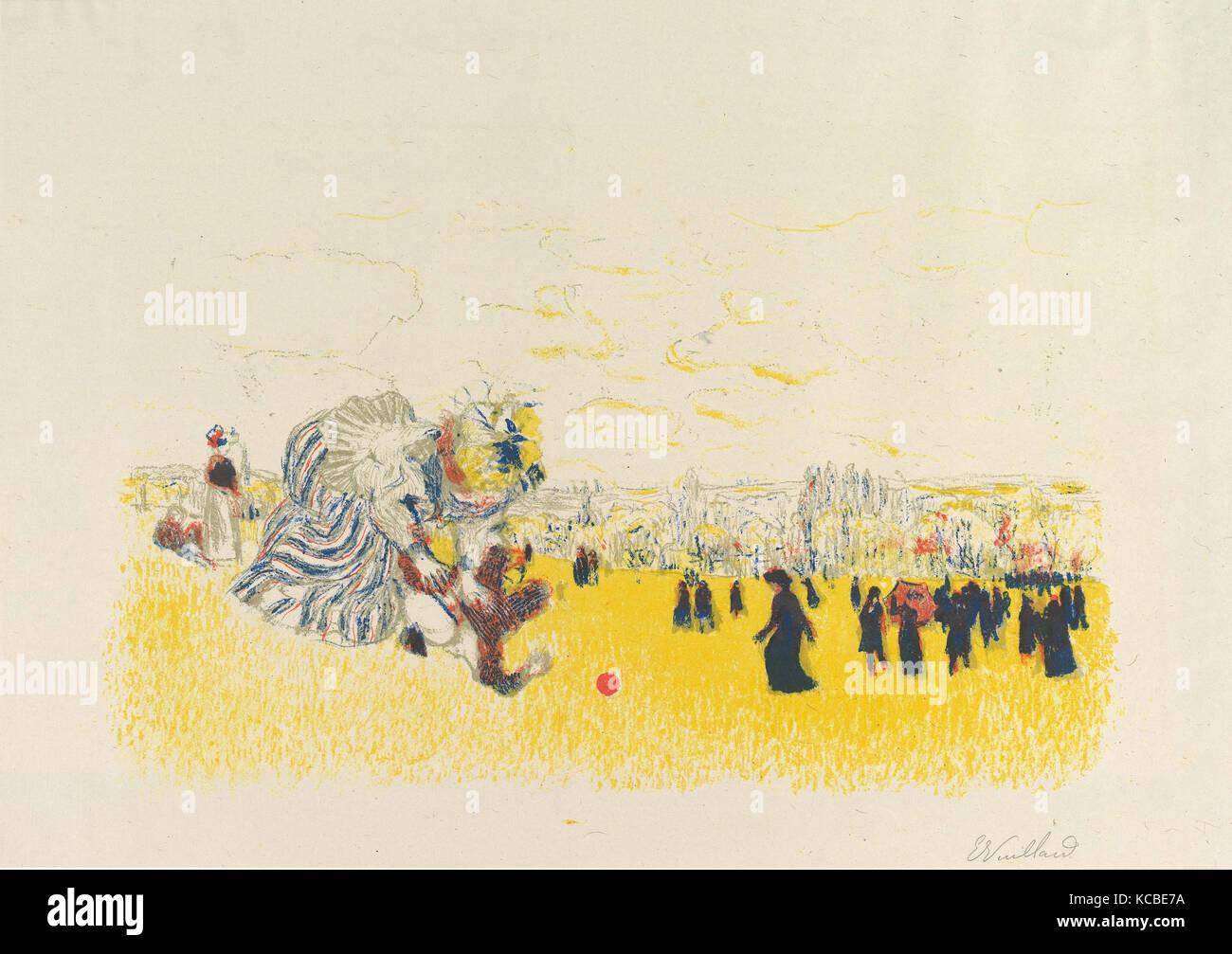 Jeux d'enfants (Children's Games), from the Album des Peintres-Graveurs (Paris: Vollard, 1897), Édouard - Stock Image