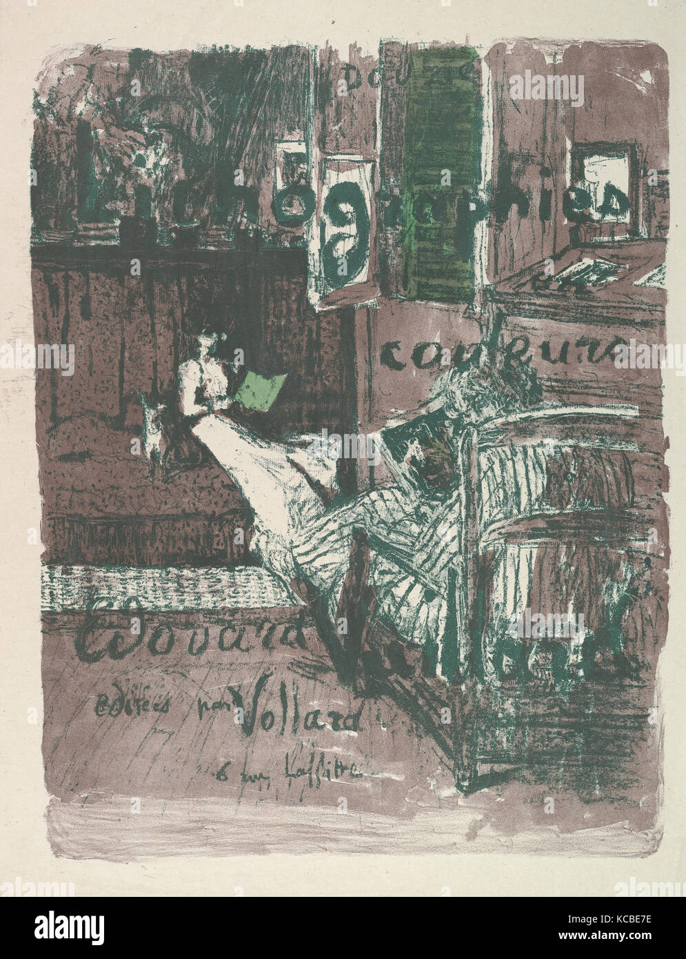 Cover for the album Landscapes and Interiors (Vollard Portfolio), Édouard Vuillard, 1899 - Stock Image