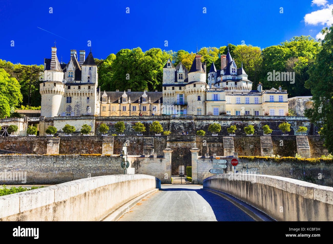 Magnificent Chateau d' Usse',Loire valley,France. - Stock Image