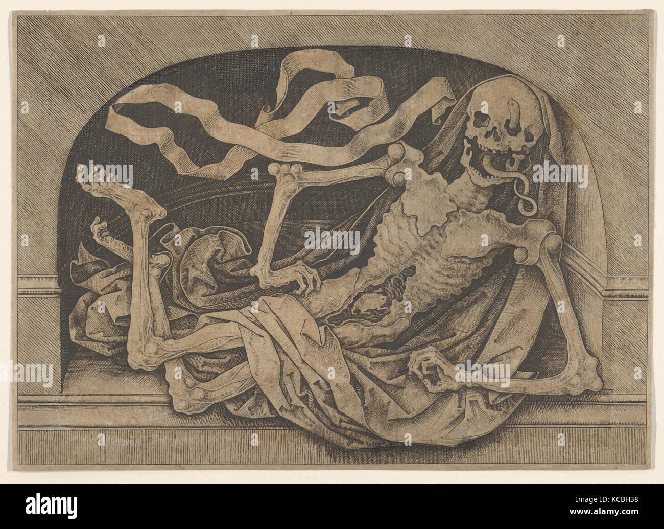 Memento Mori, Master IAM of Zwolle, late 15th century - Stock Image
