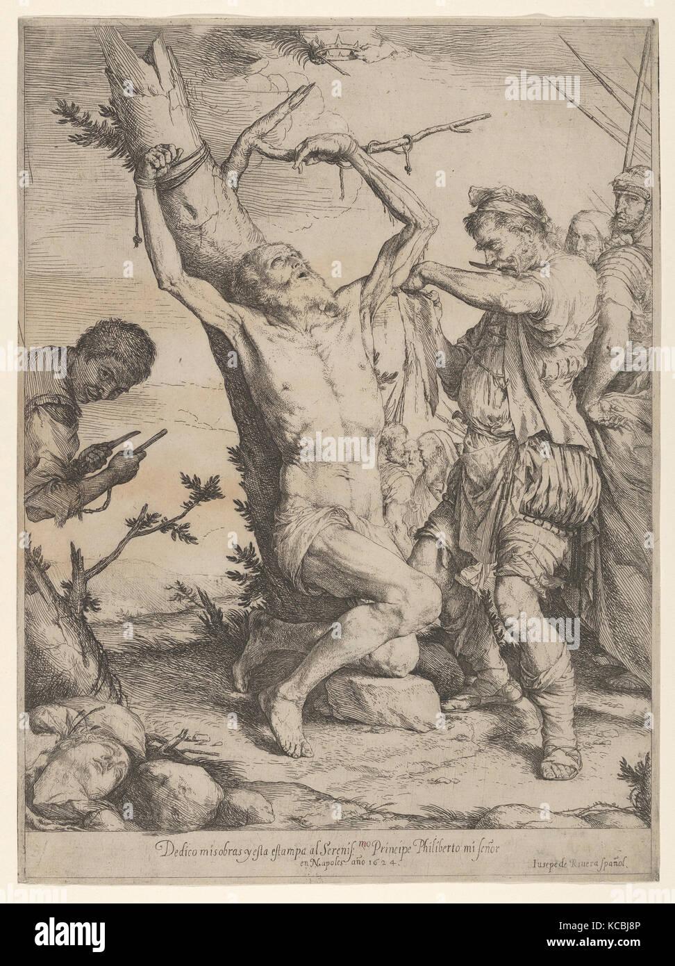 The Martyrdom of Saint Bartholomew, Jusepe de Ribera, 1624 - Stock Image