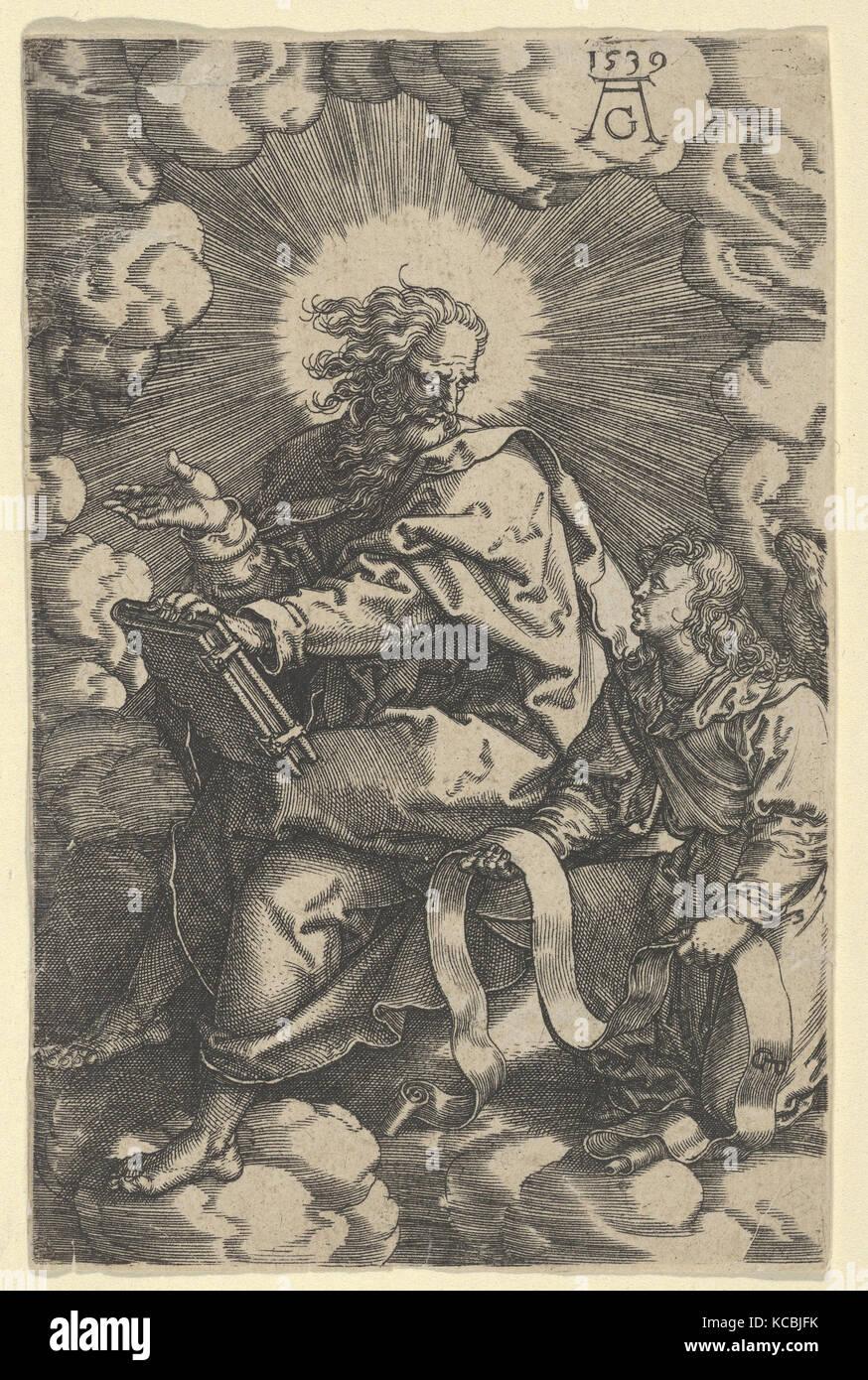 Saint Matthew, from The Four Evangelists, Heinrich Aldegrever, 1539 - Stock Image