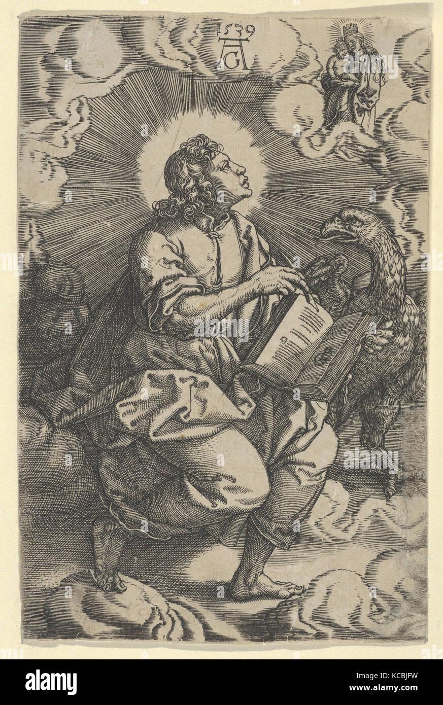 Saint John, from The Four Evangelists, Heinrich Aldegrever, 1539 - Stock Image
