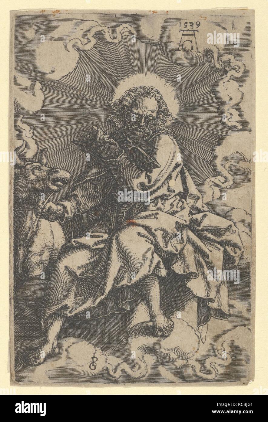 Saint Luke, from The Four Evangelists, Heinrich Aldegrever, 1539 - Stock Image