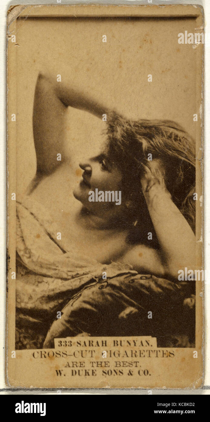 Drawings and Prints, Photograph, Card Number 333, Sarah Bunyan, from the Actors and Actresses series issued by Duke - Stock Image