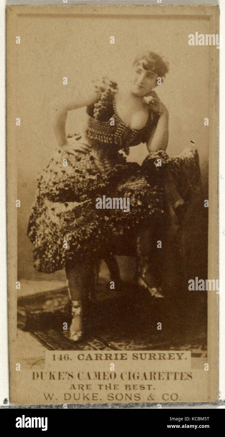 Drawings and Prints, Photograph, Card Number 146, Carrie Surrey, from the Actors and Actresses series issued by - Stock Image