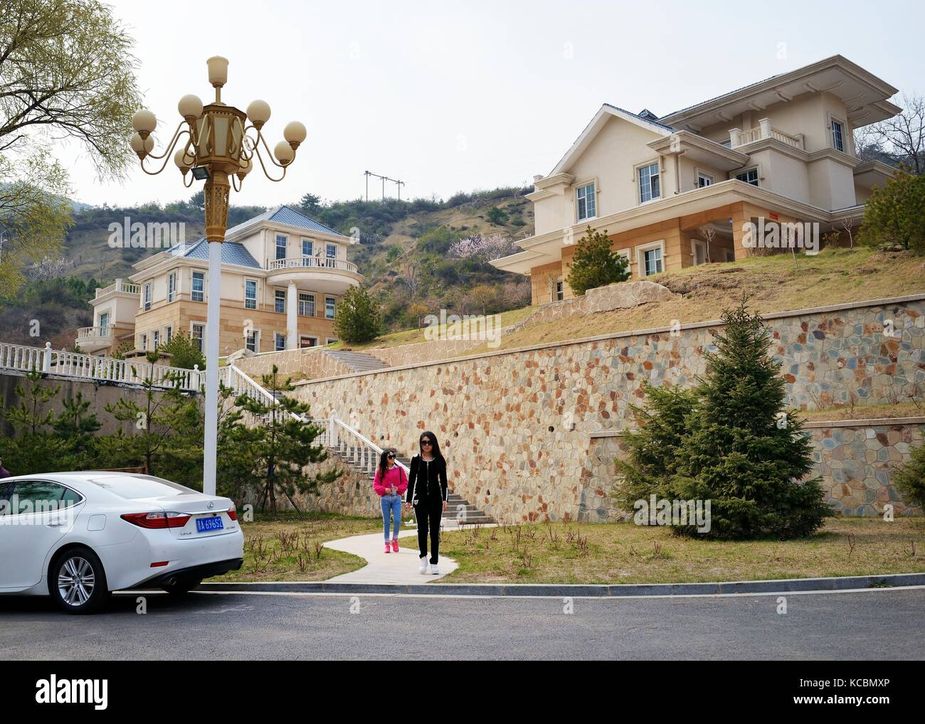 Quality new town housing redevelopment of old coal mine area at Pianqiao in the Wanbailin District 20 km west of - Stock Image