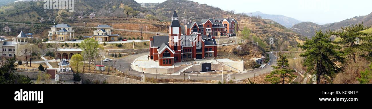 Quality new town housing redevelopment of old coal mine area at Pianqiao in the Wanbailin District 20 km west of Stock Photo