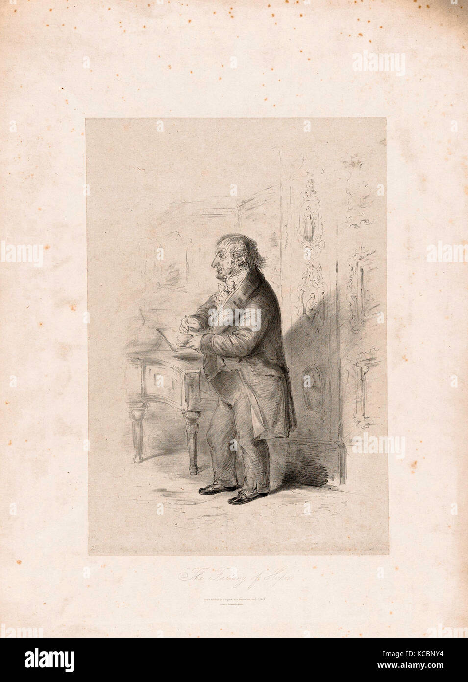 Drawings and Prints, Print, The Fallacy of Hope, Artist, Publisher, Printer, Sitter, Count Alfred Guillaume Gabriel - Stock Image