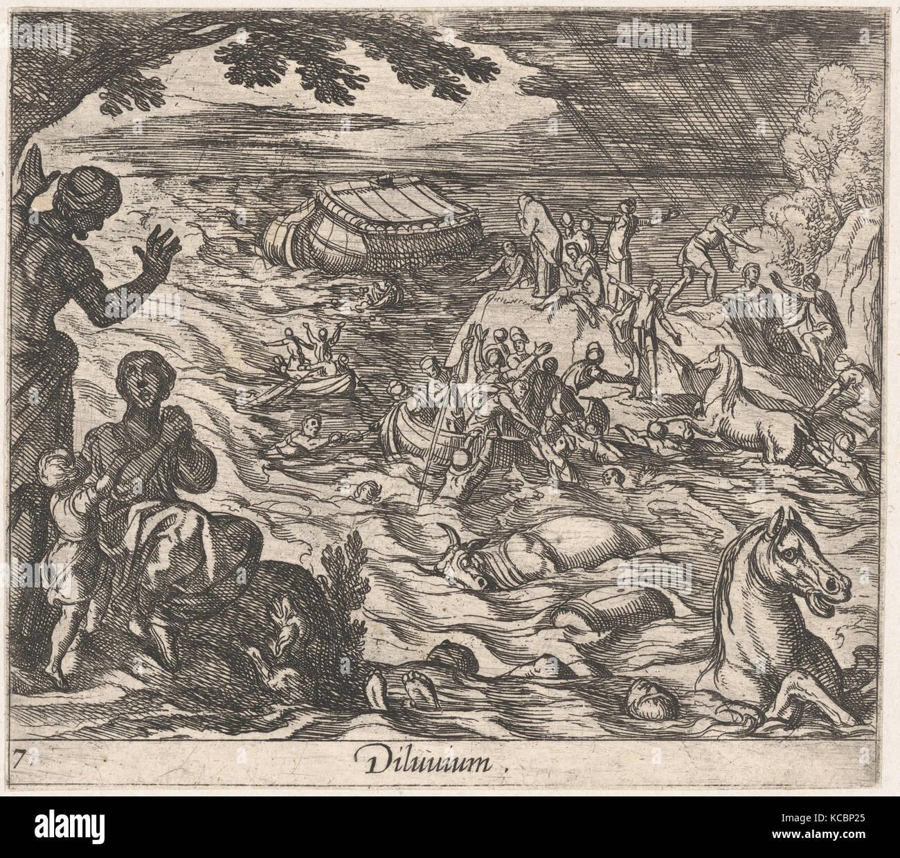 Plate 7: The Flood (Diluvium.), from Ovid's 'Metamorphoses', Antonio Tempesta, 1606 - Stock Image