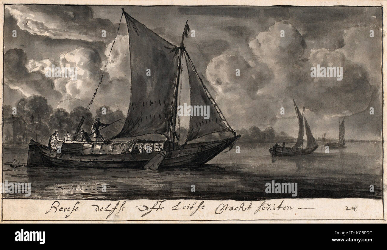 e01aa191c36 Drawings and Prints, Drawing, Night Ferries of The Hague, Delft and Leiden,