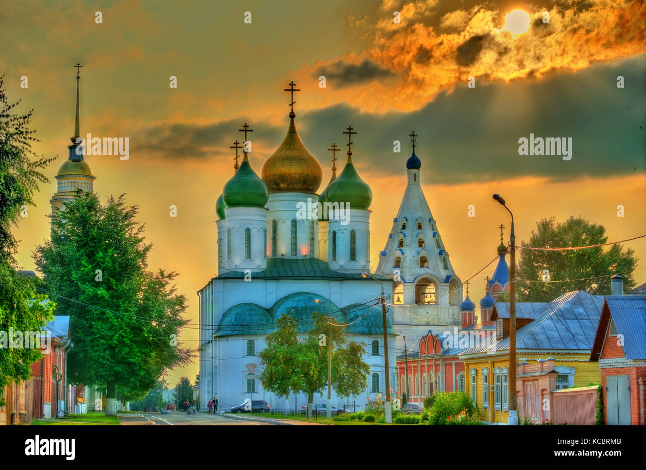The Assumption Cathedral in Kolomna, Russia Stock Photo