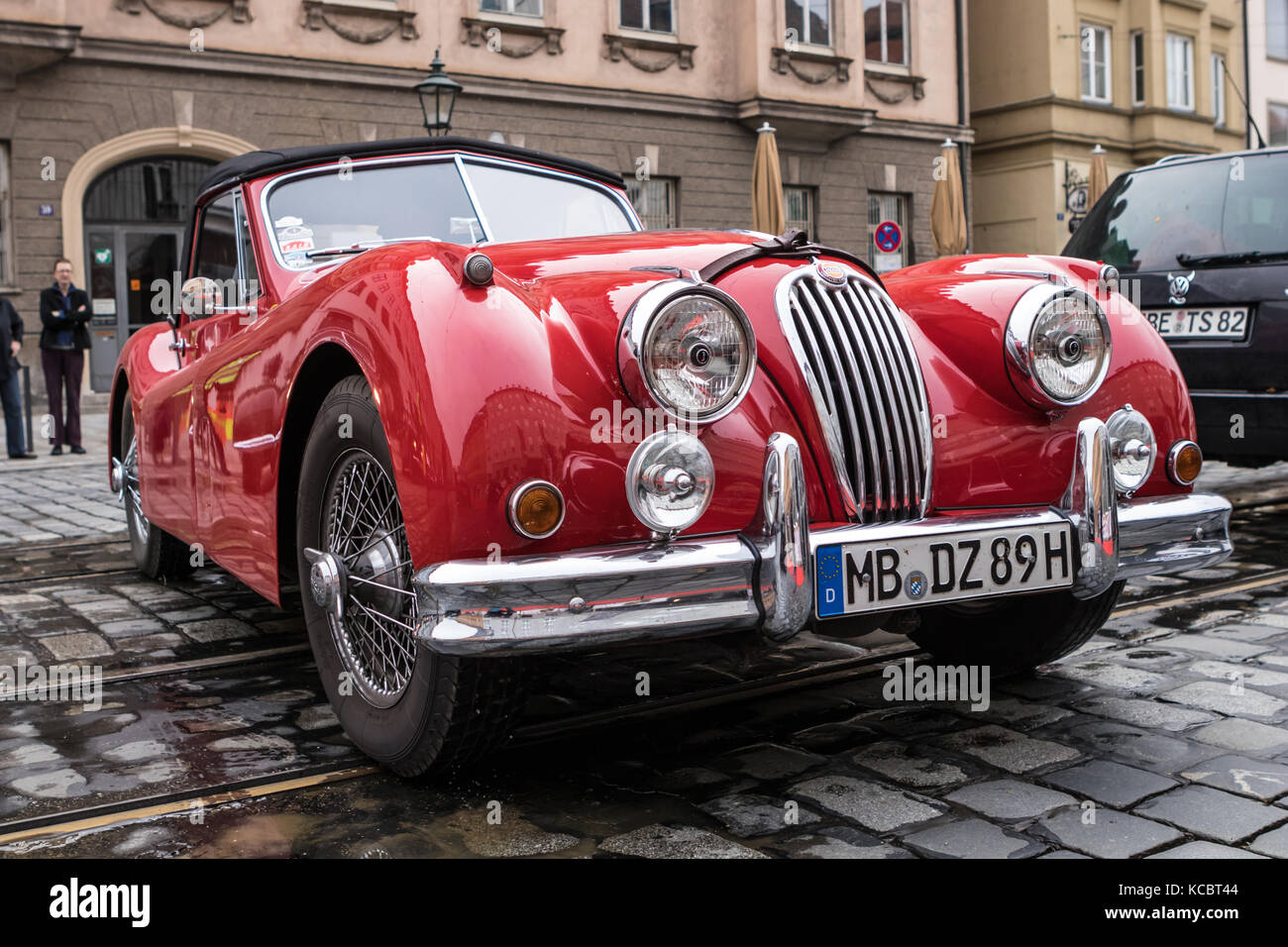 Augsburg, Germany   October 1, 2017: Jaguar Oldtimer Car At The Fuggerstadt  Classic 2017 Oldtimer Rallye On October 1, 2017 In Augsburg, Germany.