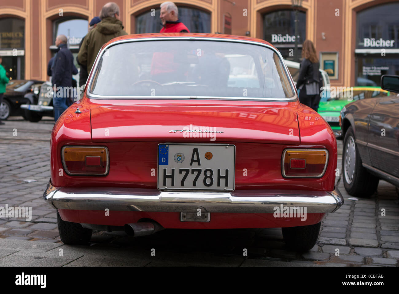 Alfa Romeo Classic Car Rally Stock Photos Gt 1300 Junior Restoration Windscreen Wiper Motor Augsburg Germany October 1 2017 Oldtimer