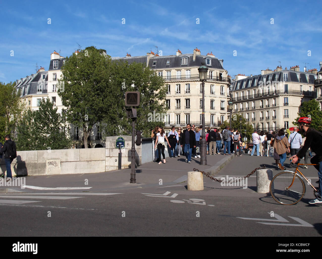 Pont Saint-Louis, bridge, Seine river, Paris, France - Stock Image
