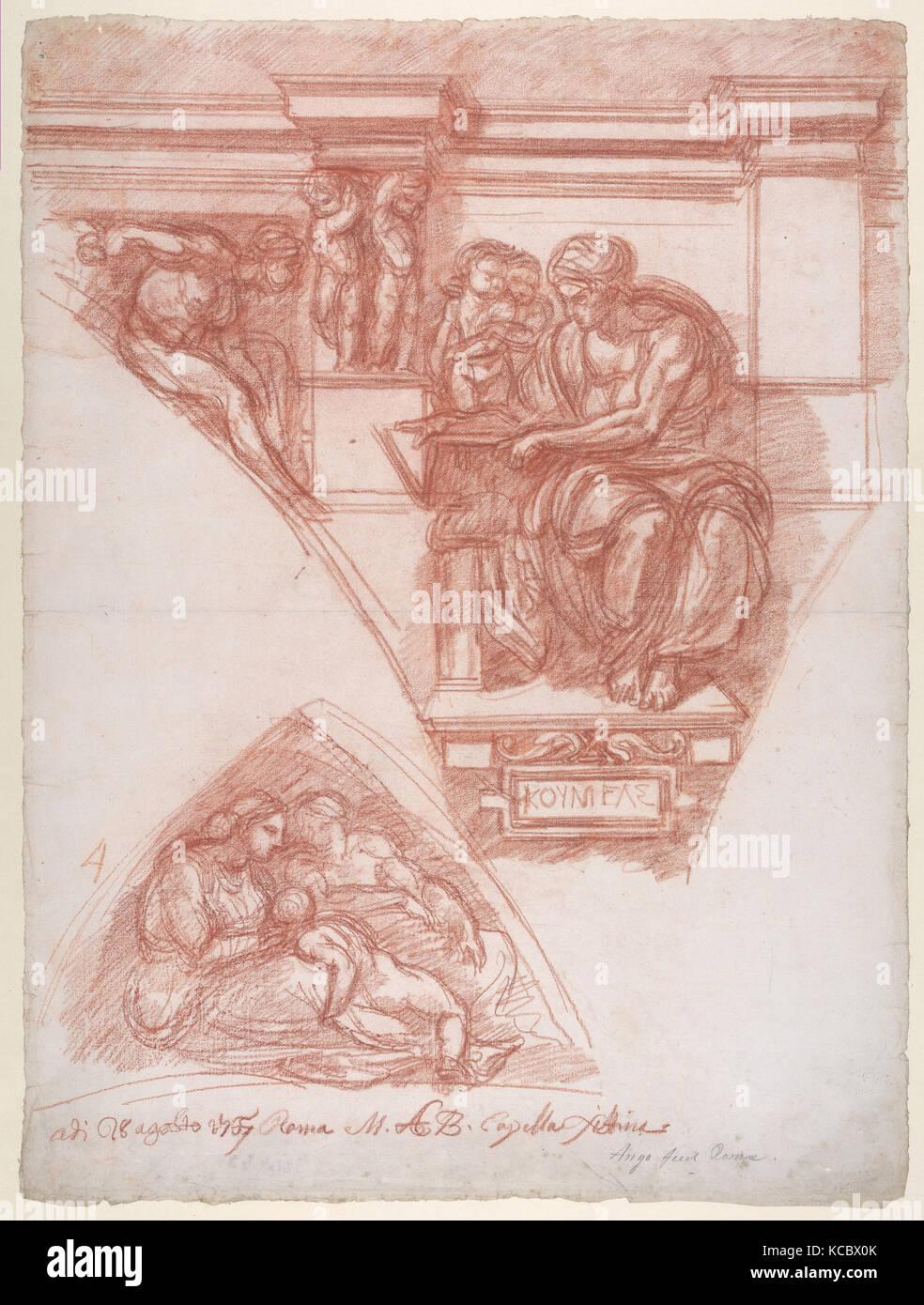 The Cumaean Sibyl (after Michelangelo), Jean Robert Ango, 1767 - Stock Image